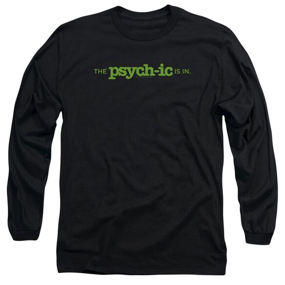 Psych The Psychic Is In Long Sleeve Adult T-Shirt