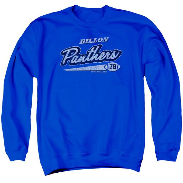 Friday Night Lights Panthers 78 Adult Crewneck Sweatshirt Royal