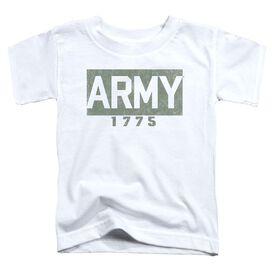 Army Block Short Sleeve Toddler Tee White T-Shirt