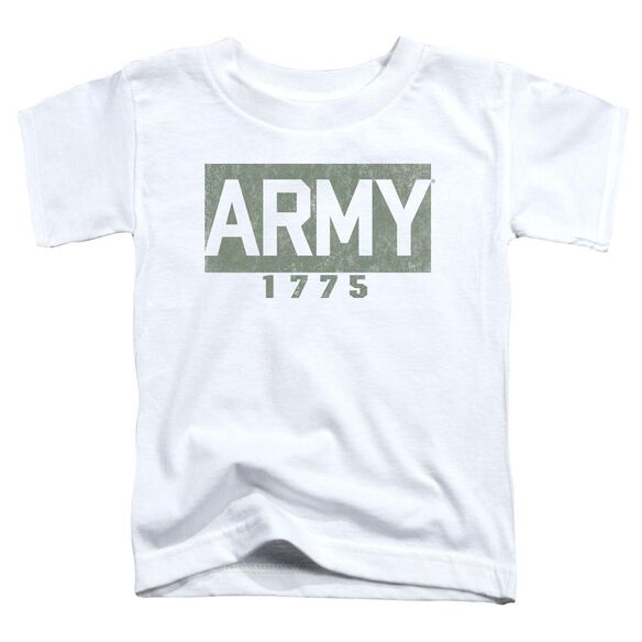 Army Block Short Sleeve Toddler Tee White T-Shirt