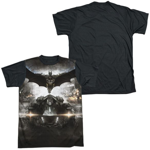 Batman Arkham Knight Poster Short Sleeve Adult Front Black Back T-Shirt