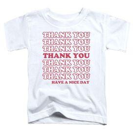 Thank You Short Sleeve Toddler Tee White T-Shirt