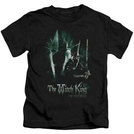 Lor Witch King Short Sleeve Juvenile Black T-Shirt