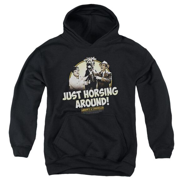 Abbott & Costello Horsing Around Youth Pull Over Hoodie