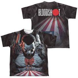Bloodshot World On Fire (Front Back Print) Short Sleeve Youth Poly Crew T-Shirt