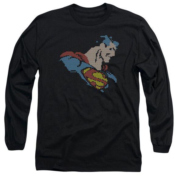 Dc Lite Brite Superman Long Sleeve Adult T-Shirt