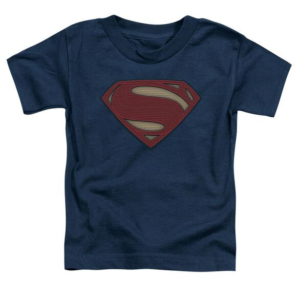 Batman V Superman Super Movie Logo Short Sleeve Toddler Tee Navy T-Shirt