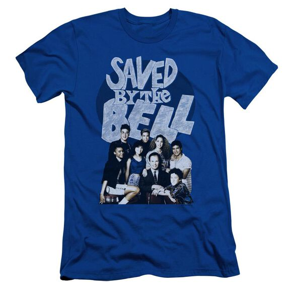 Saved By The Bell Retro Cast Short Sleeve Adult Royal T-Shirt