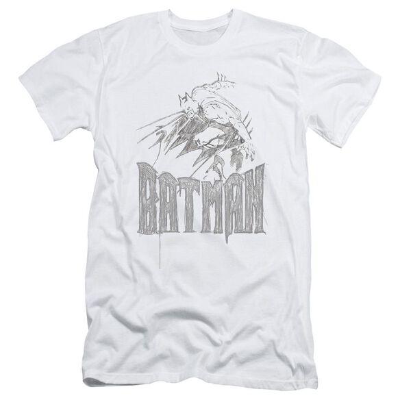 Batman Knight Sketch Short Sleeve Adult T-Shirt