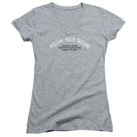 Naked At Work Junior V Neck Athletic T-Shirt