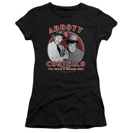 Abbott & Costello Bad Boy Short Sleeve Junior Sheer T-Shirt