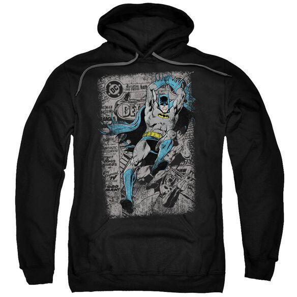 Batman Detective #487 Distress Adult Pull Over Hoodie