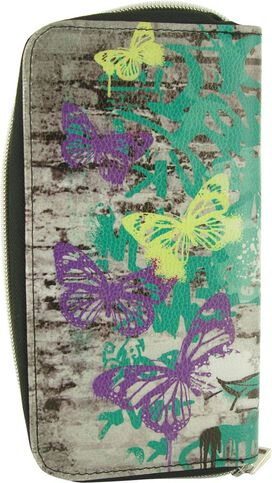 Tinker Bell Stencil Spray Clutch Wallet