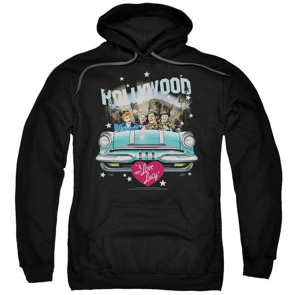 I Love Lucy Hollywood Road Trip Adult Pull Over Hoodie Black