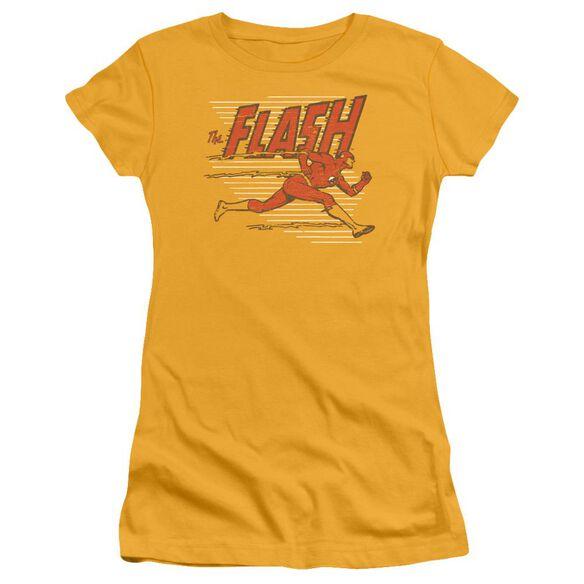 Dc Speed Lines Short Sleeve Junior Sheer T-Shirt