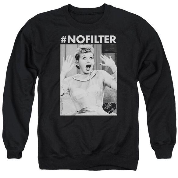 I Love Lucy No Filter Adult Crewneck Sweatshirt