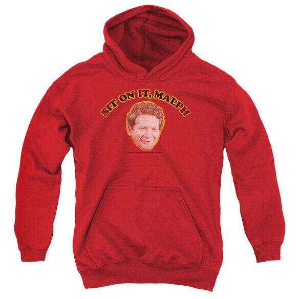 Happy Days Sit On It Malph Youth Pull Over Hoodie