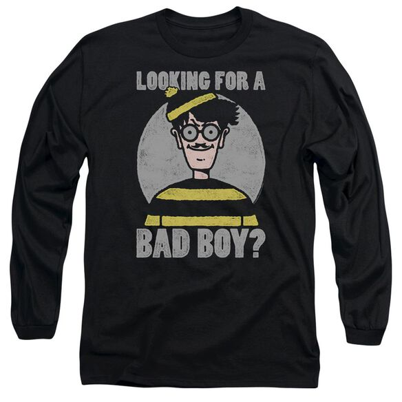 Wheres Waldo Bad Boy Long Sleeve Adult T-Shirt