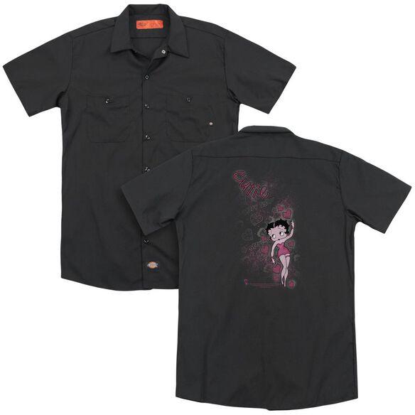 Betty Boop Cutie (Back Print) Adult Work Shirt