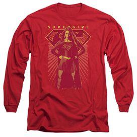 Supergirl Ready Set Long Sleeve Adult T-Shirt