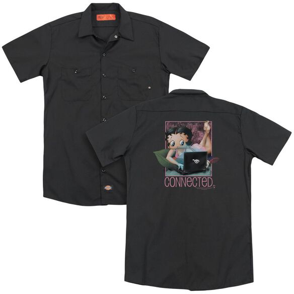 Betty Boop Connected (Back Print) Adult Work Shirt