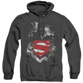Superman Darkest Hour - Adult Heather Hoodie