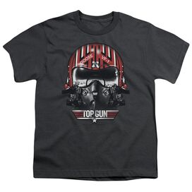 TOP GUN GOOSE HELMET - S/S YOUTH 18/1 - CHARCOAL T-Shirt