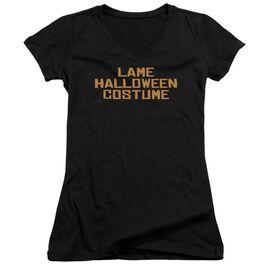 Lame Halloween Costume Junior V Neck T-Shirt