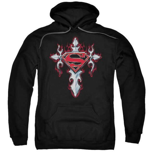 Superman Gothic Steel Logo Adult Pull Over Hoodie