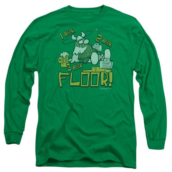 Hagar The Horrible 1 2 Floor Long Sleeve Adult Kelly T-Shirt
