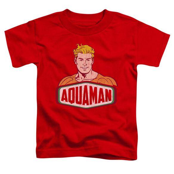 Dco Aquaman Sign Short Sleeve Toddler Tee Red Lg T-Shirt