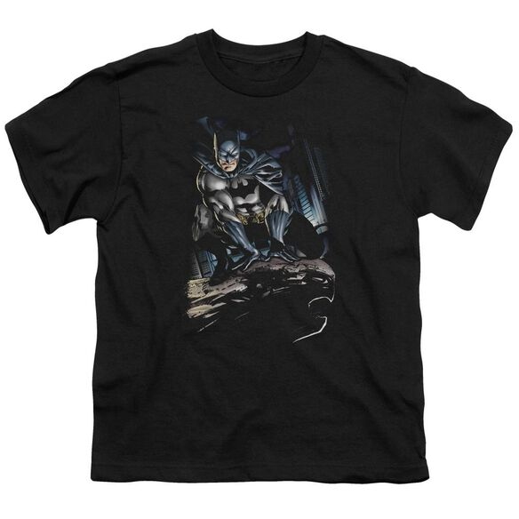 Batman Perched Short Sleeve Youth T-Shirt