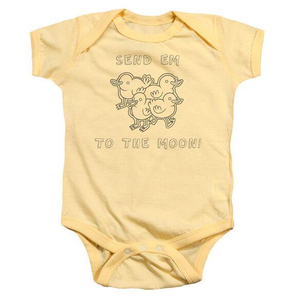 Regular Show Baby Ducks Infant Snapsuit Banana