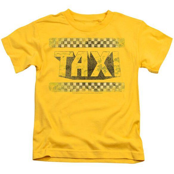 Taxi Run Down Taxi Short Sleeve Juvenile Yellow T-Shirt