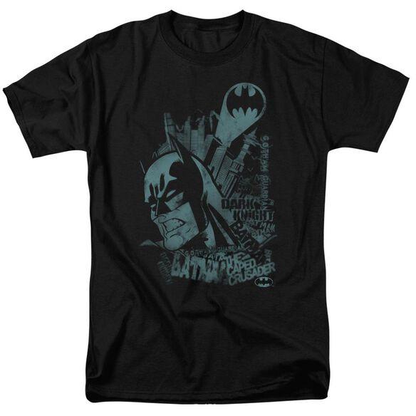 BATMAN GRITTED TEETH - S/S ADULT 18/1 - BLACK T-Shirt