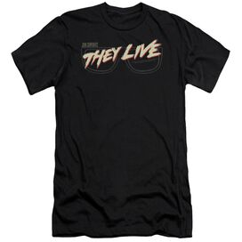 They Live Glasses Logo Premuim Canvas Adult Slim Fit