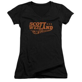 Scott Weiland Logo Junior V Neck T-Shirt