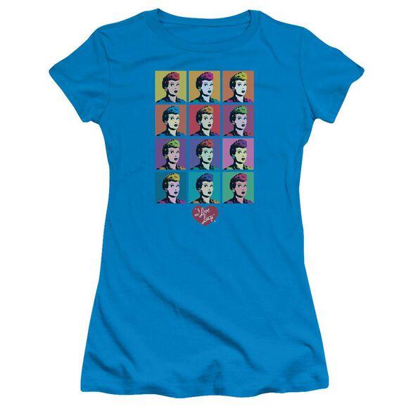 I Love Lucy Worhol Short Sleeve Junior Sheer T-Shirt