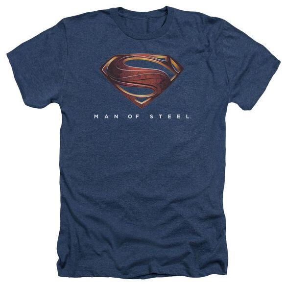 Man Of Steel Mos New Logo Adult Heather