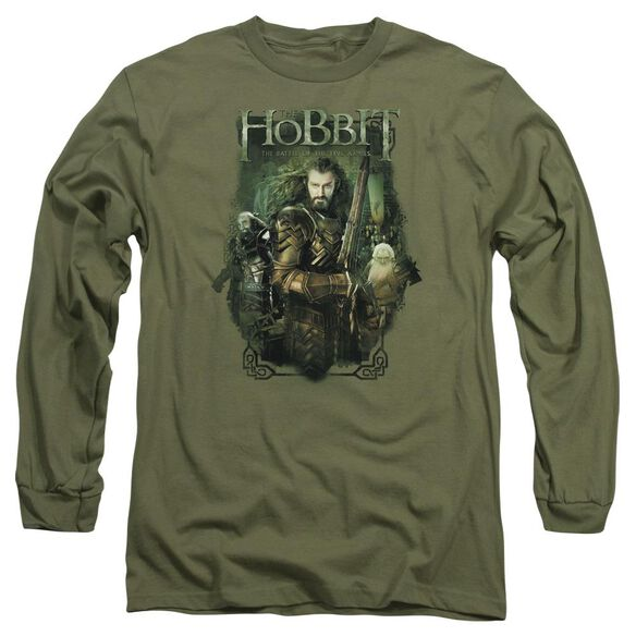 Hobbit Thorin And Company Long Sleeve Adult Military T-Shirt