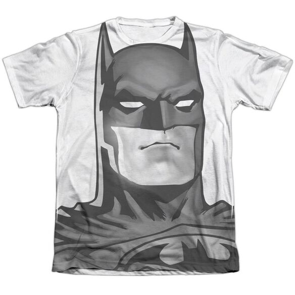 Batman Bw Bat Head Adult Poly Cotton Short Sleeve Tee T-Shirt