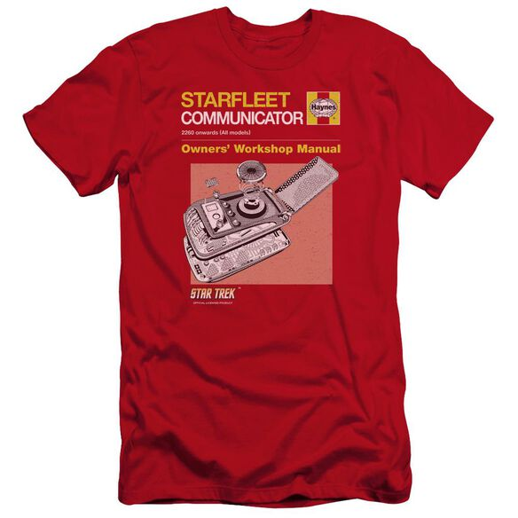 Star Trek Comm Manual Premuim Canvas Adult Slim Fit
