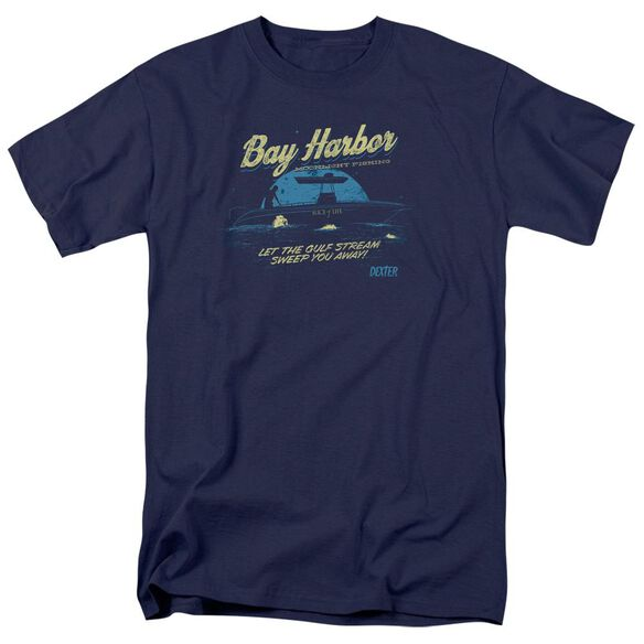 Dexter Moonlight Fishing Short Sleeve Adult Navy T-Shirt