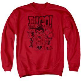 Teen Titans Go Team Up Adult Crewneck Sweatshirt
