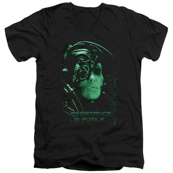 Star Trek Resistance Is Futile Short Sleeve Adult V Neck T-Shirt