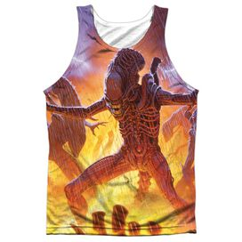 Alien Lightning And Fire Adult 100% Poly Tank Top