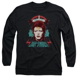 David Bowie Ziggy Heads Long Sleeve Adult T-Shirt
