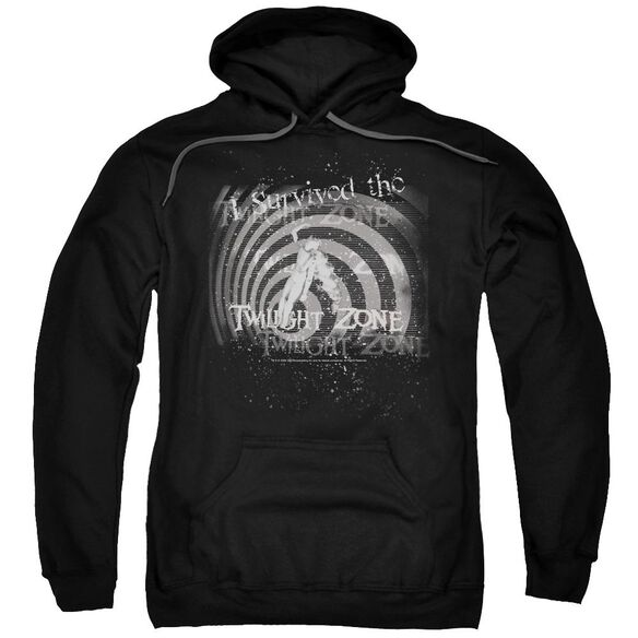 Twilight Zone I Survived Adult Pull Over Hoodie Black