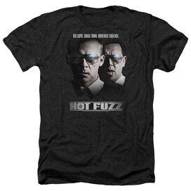 Hot Fuzz Big Cops - Adult Heather - Black