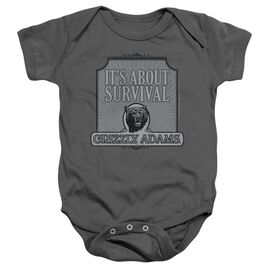 Grizzly Adams Survival Infant Snapsuit Charcoal